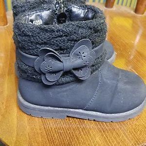 Lil girls boots, black, sz 6